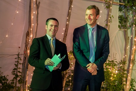 Minister for Skills, Research and Innovation Damien English TD (left) and Giles O'Neill, Enterprise Ireland, pictured during the Education in Ireland mission to India organised by Enterprise Ireland.